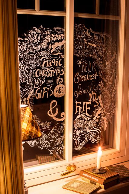 Mein selbstgemaltes Weihnachtsfenster