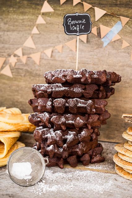Brownie Waffeln aus dem Belgischen Waffeleisen