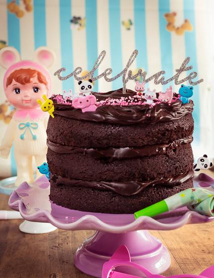 """Mein """"Double Chocolate"""" Ganache Geburtstagskuchen"""