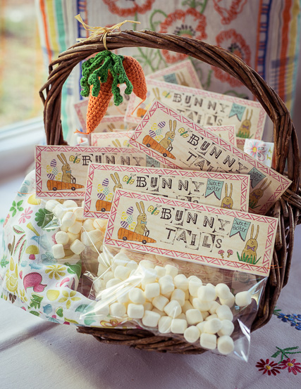 Easter Bunny Tails aus Mini Marshmallows