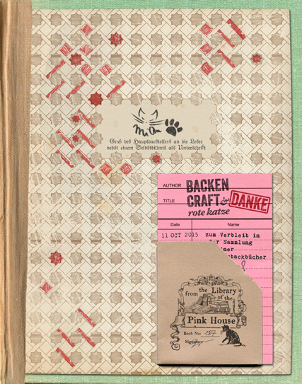 So sieht die Karte in das Buch eingeklebt aus