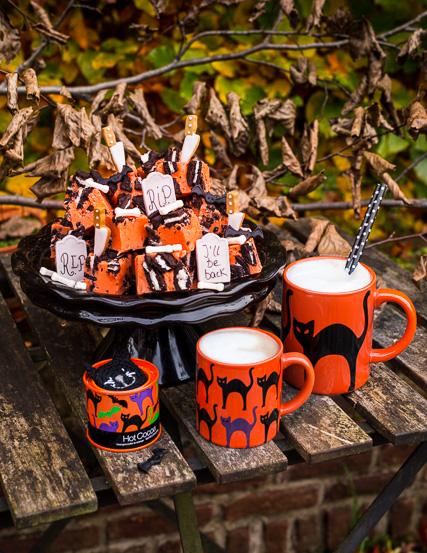 Mein 'scary' Cookies & Cream Fudge für Halloween