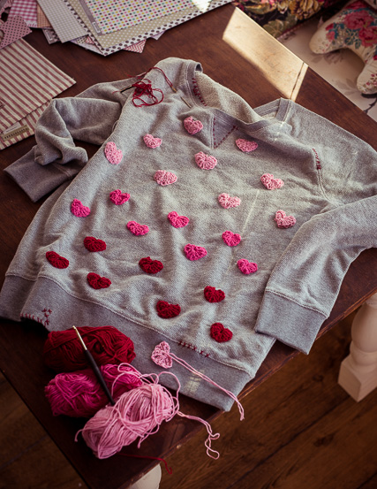 Beim Pimp-Your-Sweatshirt-Freitag verschönern wir Dein Sweatshirt