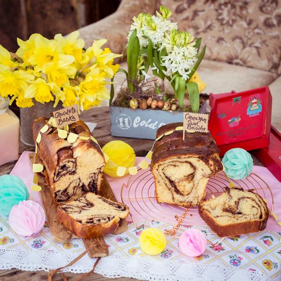 Cinnamon Swirl Brioche und Schokoladenbakka