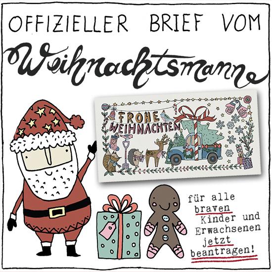 Der Brief wird vom Weihnachtsmann personalisiert und unterschrieben.