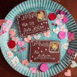 Gebackener Valentinstag Loveletter