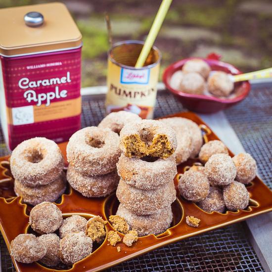 Meine Pumpkin Donuts und natürlich nicht zu Vergessen die Munchkins