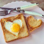 Herz Toast Ei Kombi