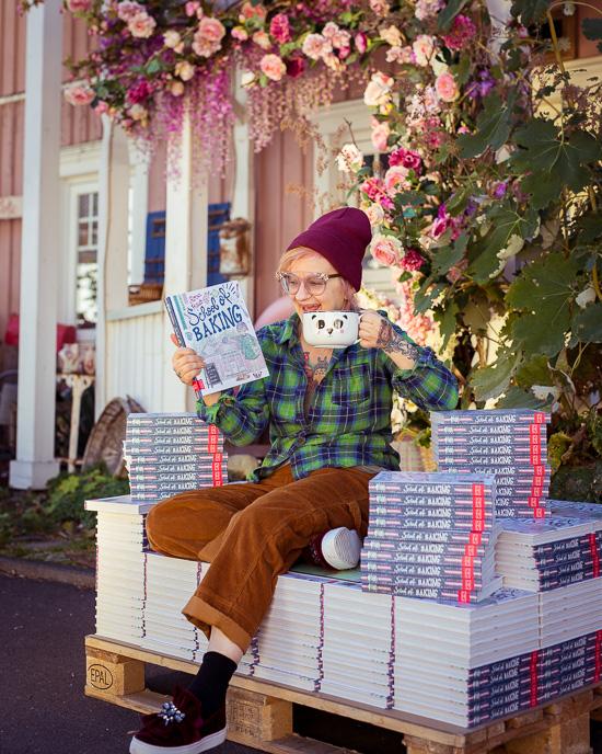 mein neues Buch School of Baking ist schonmal im Rosa Haus eingetroffen