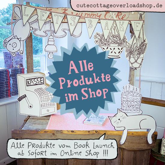 Ab sofort gibt es alle Produkte vom Book Launch am Wochenende auch in meinem Online Shop