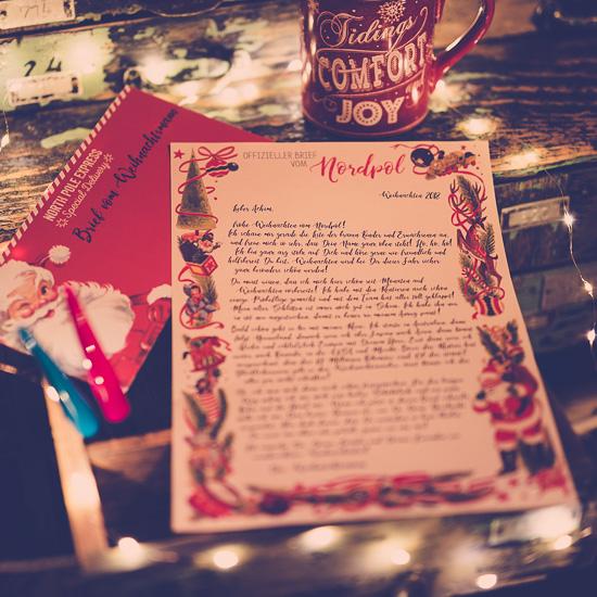 So sieht der personalisierte Brief vom Weihnachtsmann dieses Jahr aus
